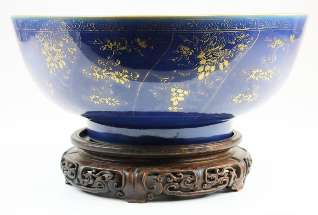 late 19th c Chinese export punch bowl