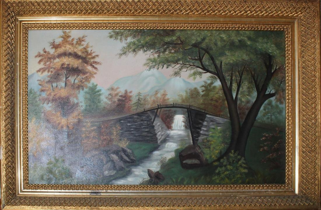 19th c American School landscape in excellent frame