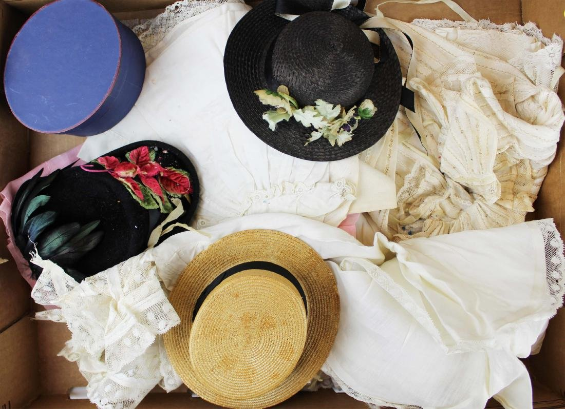 vintage doll hats, clothing