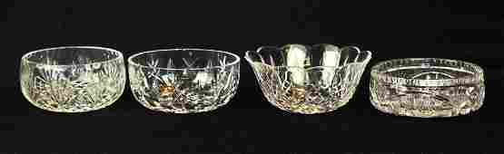 4 crystal cut glass serving bowls incl Waterford