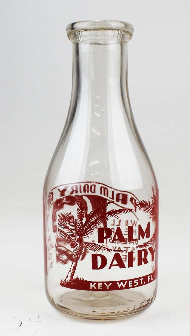 Palm Dairy Key West, Florida milk bottle