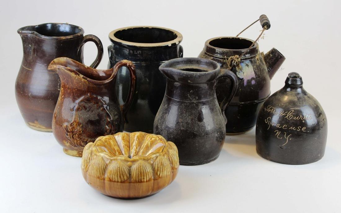 Albany brown slip, Rockingham pottery