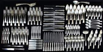 136 pcs Kirk Kirk King sterling silver flatware