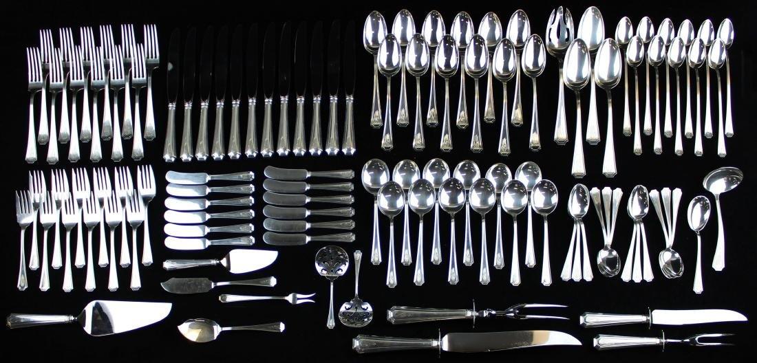 111 pcs. Gorham Fairfax sterling silver flatware
