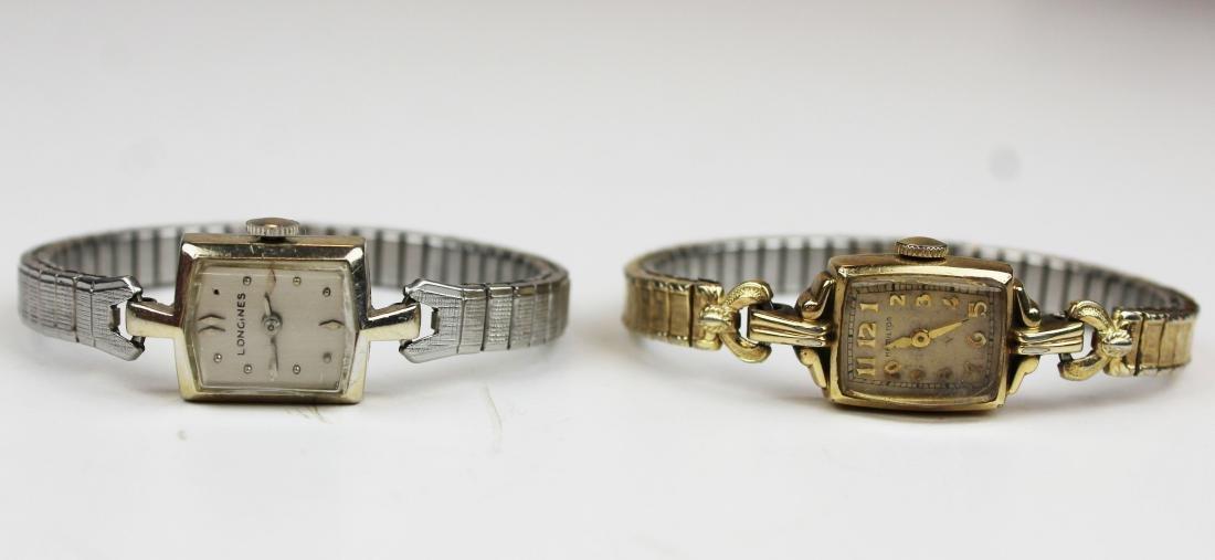 Longines ladies 14k white gold wrist watch