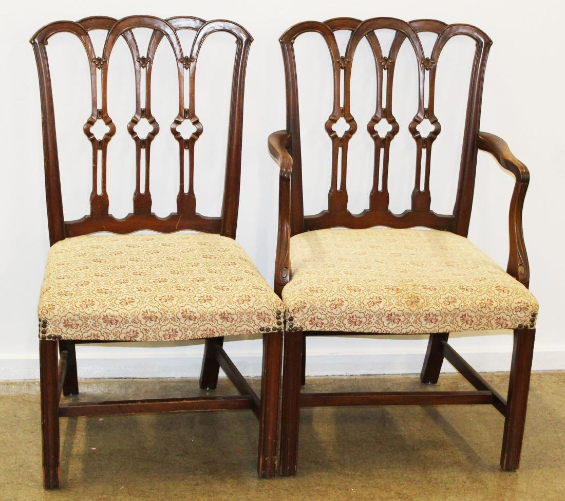 set of 6 Chippendale mahogany dining chairs