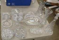 13 pcs. American Brilliant Period cut glass