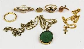 Odd gold jewelry