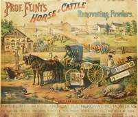 Prof. Flint's horse and cattle renovating powders