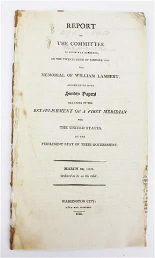 1810 Washington DC  Genl Bradley signed