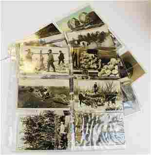early 20th c novelty postcards incl real photo