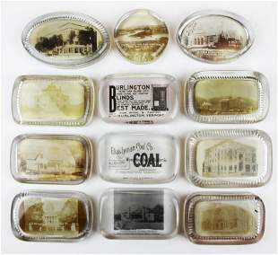 paperweights with photographs incl VT