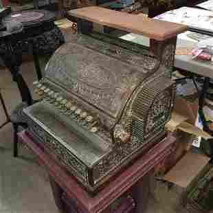 National Cash Register brass cash register