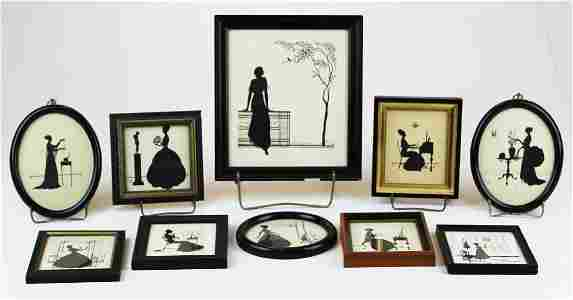 Ten Wallace Nutting Silhouettes