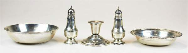 5 pcs assorted sterling silver hollowware