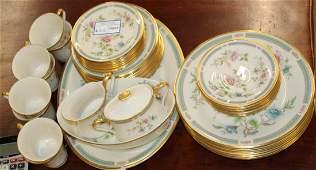 44 pcs Lenox Morning Blossom porcelain dinnerware
