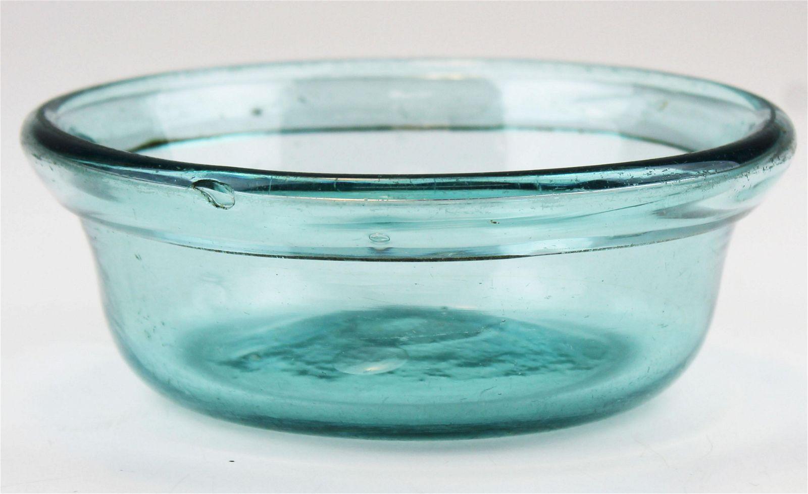 Burlington, VT blown glass bowl