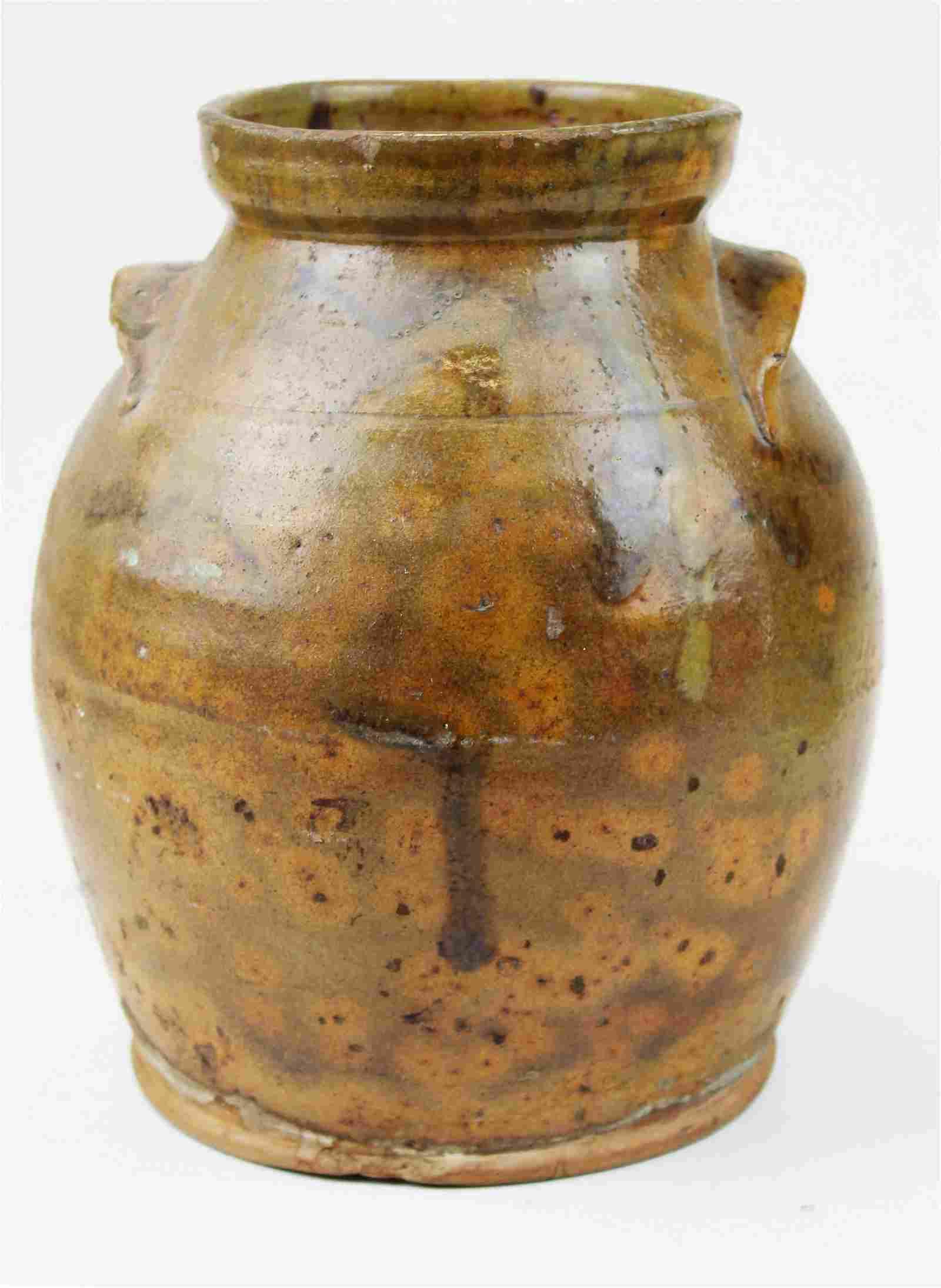 East Middlebury, VT redware handled jar