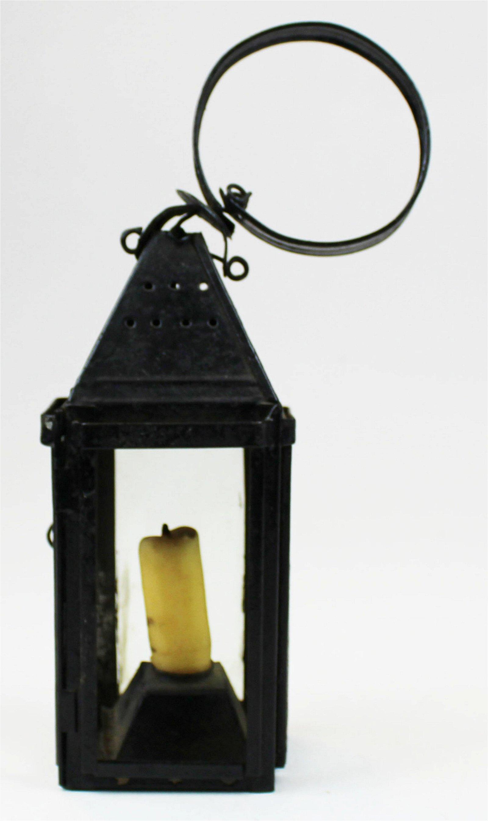signed miniature Proctorsville, VT tin lantern