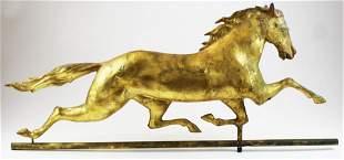 19th c Ethan Allen running horse weathervane