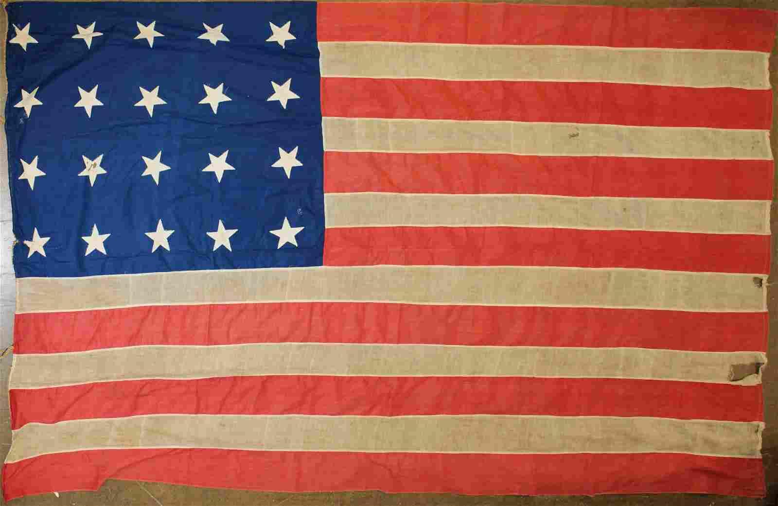 20 star United States flag