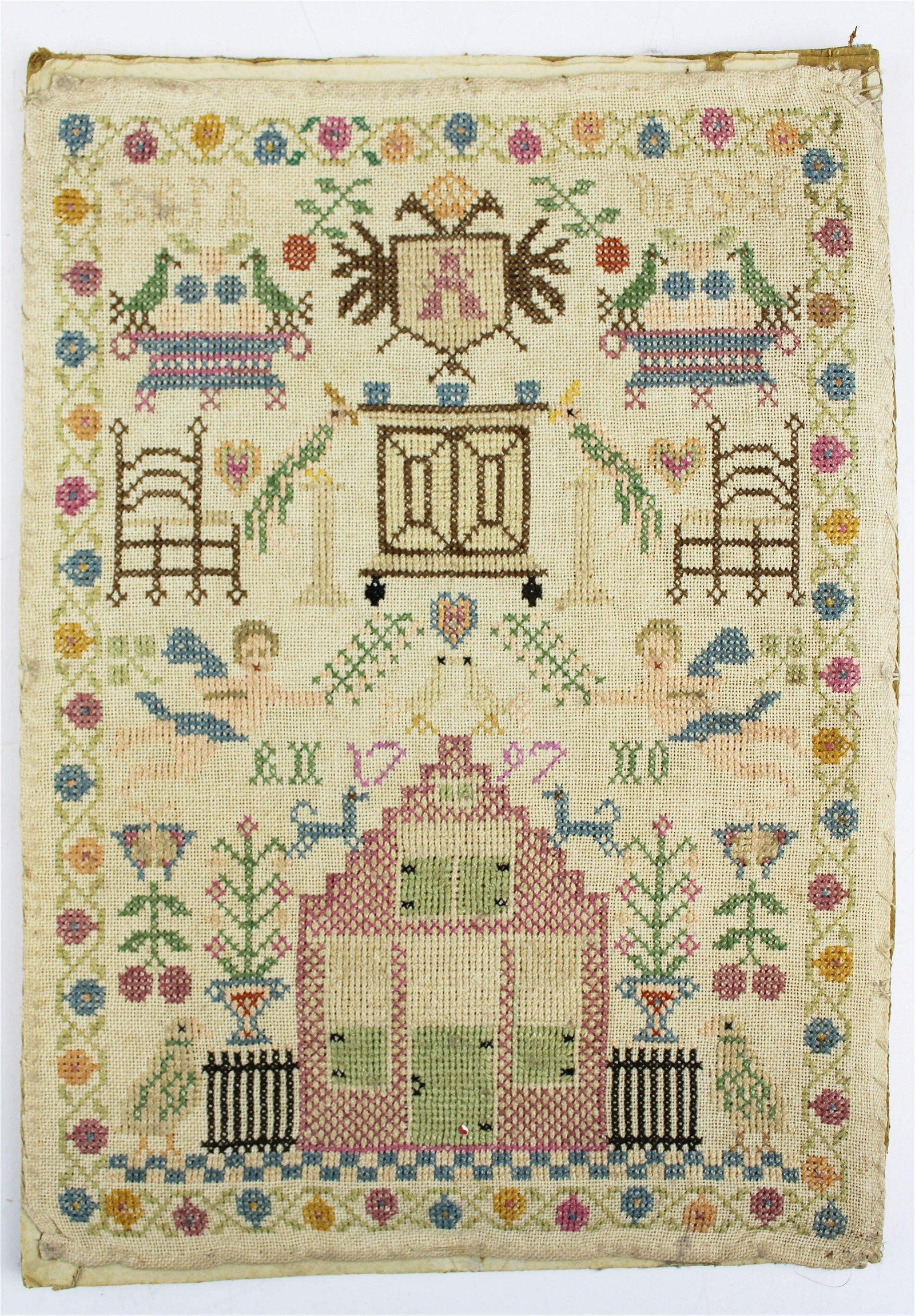 1797 Sara Wisse schoolgirl sampler