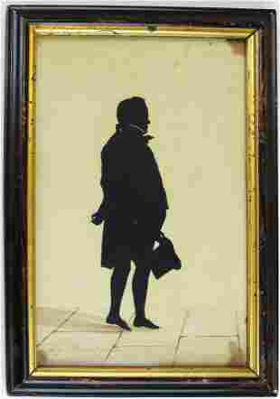 signed 1828 Auguste Edouarte silhouette