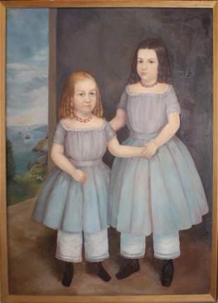 Prior Hamblin school portrait of two girls