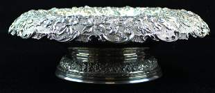 Stieff sterling silver repousse centerpiece bowl