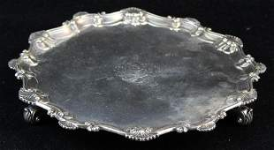 1762 Ebenezer Coker London sterling salver
