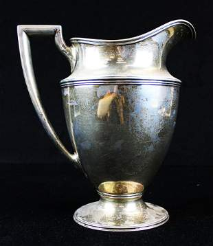 Tiffany and Co. sterling silver water pitcher