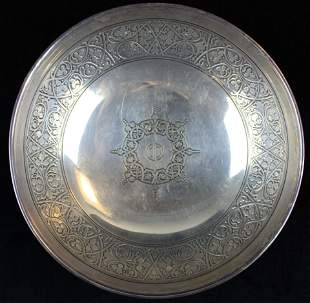 Tiffany and Co. sterling footed serving bowl