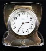 Tiffany and Co. sterling cased Swiss travel clock