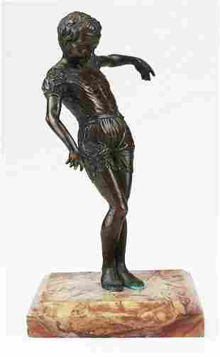 unsigned French bronze young dancer