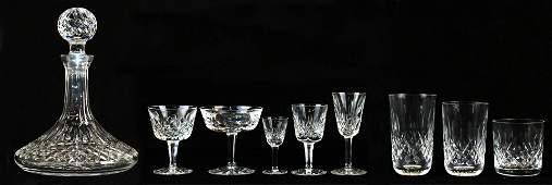 52 pcs Waterford Lismore crystal stemware