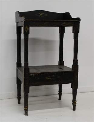 19th c New England wash stand