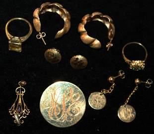 14k rings, jewelry, 10k pendant drop