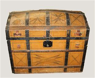 19th c. oversize dome top trunk