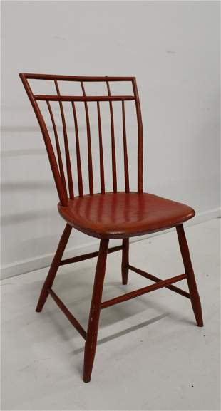 Lipstick red Birdcage Windsor side chair
