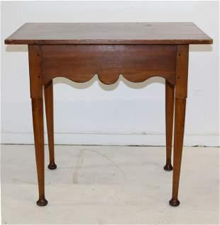 Queen Anne button foot tea table