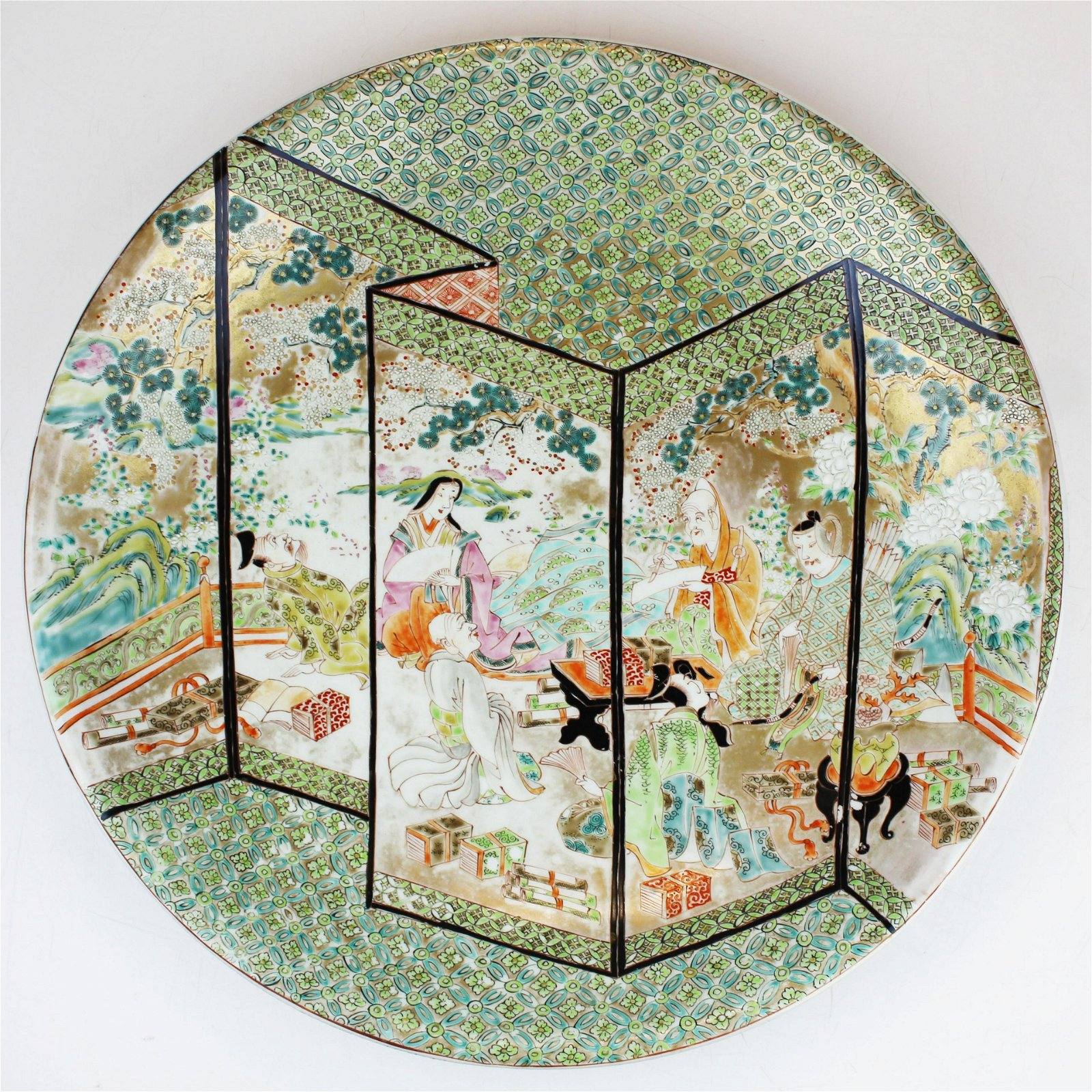 Chinese famille rose enamel decorated charger