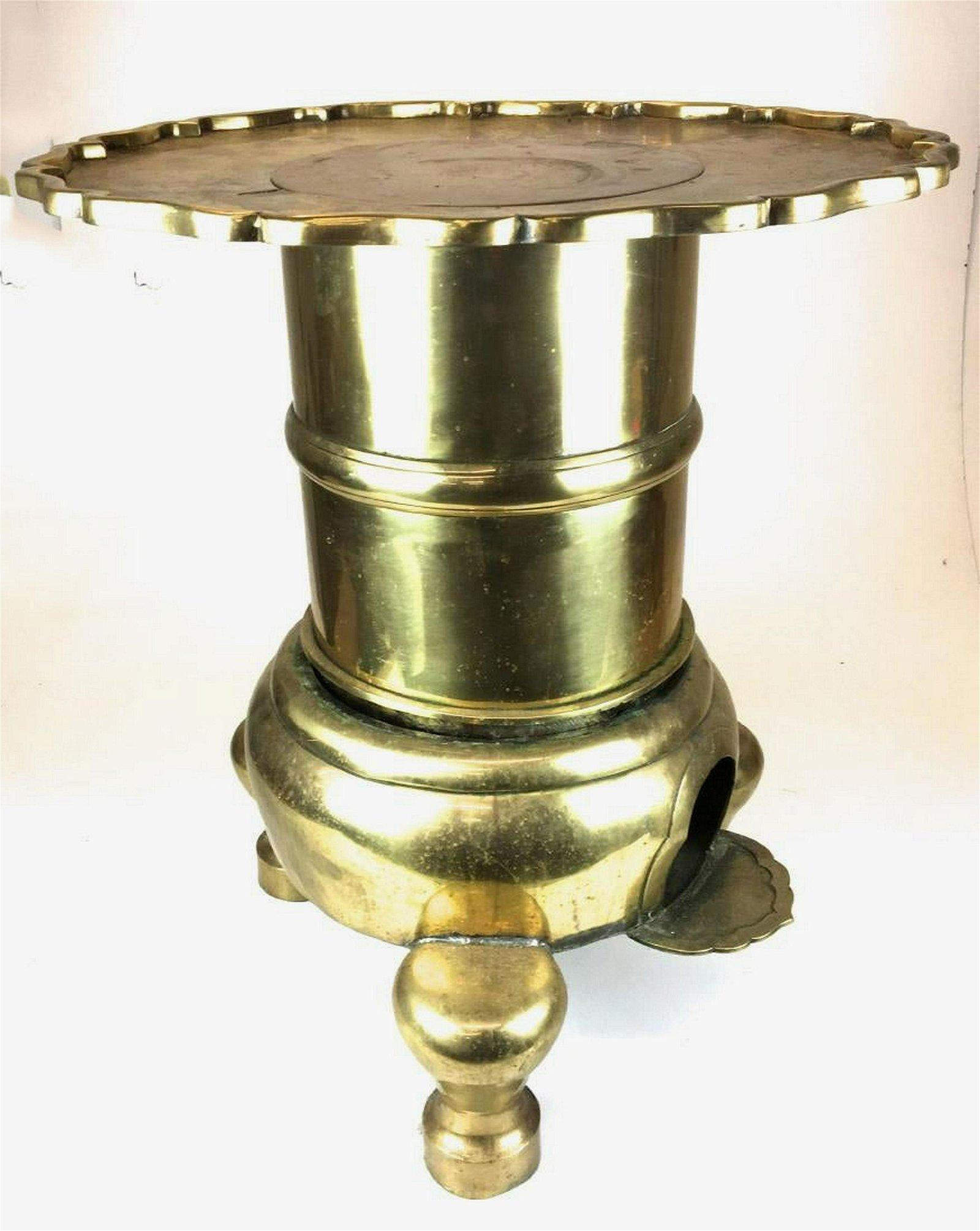 Chinese brass brazier stove
