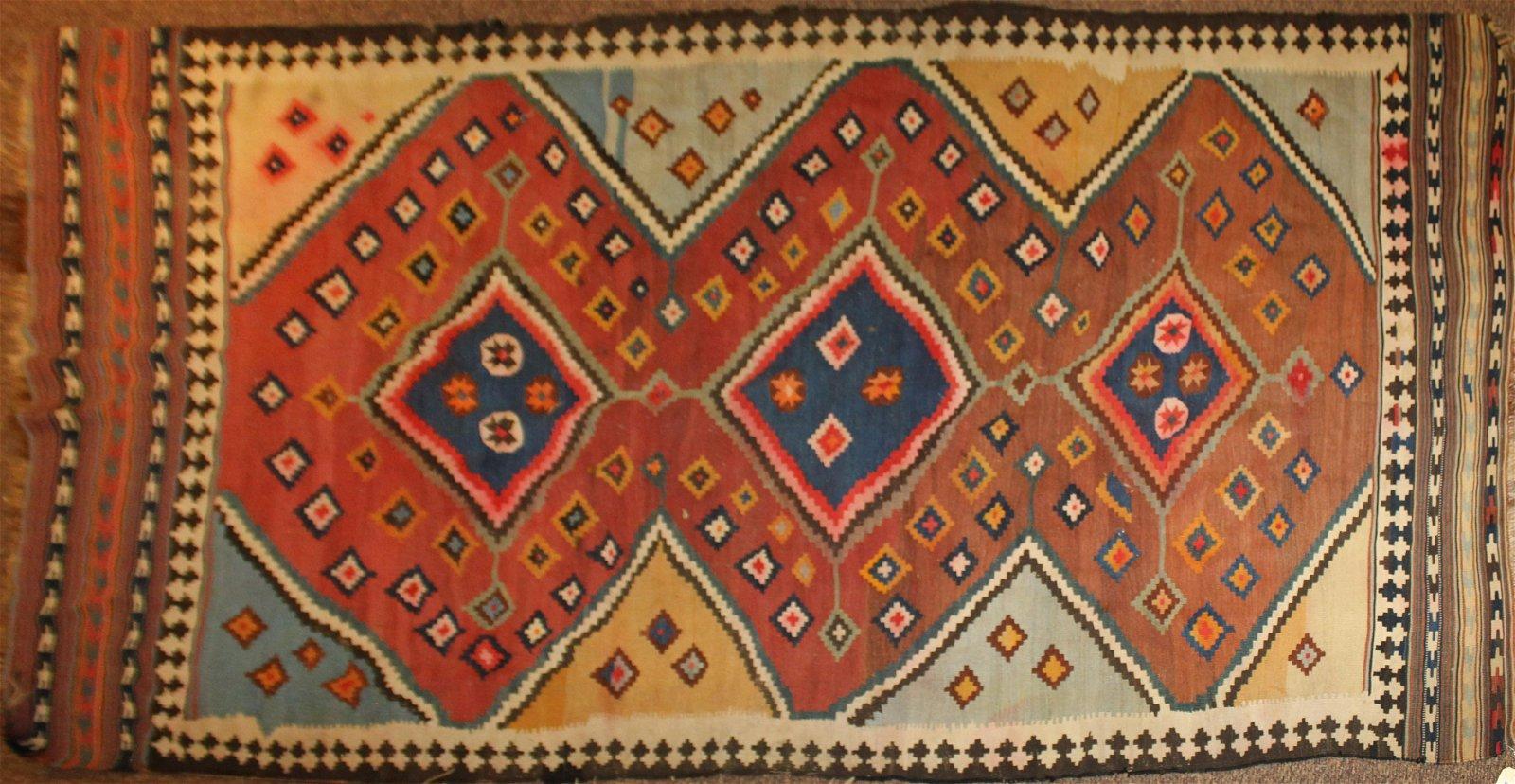 Kilim flat woven Oriental carpet
