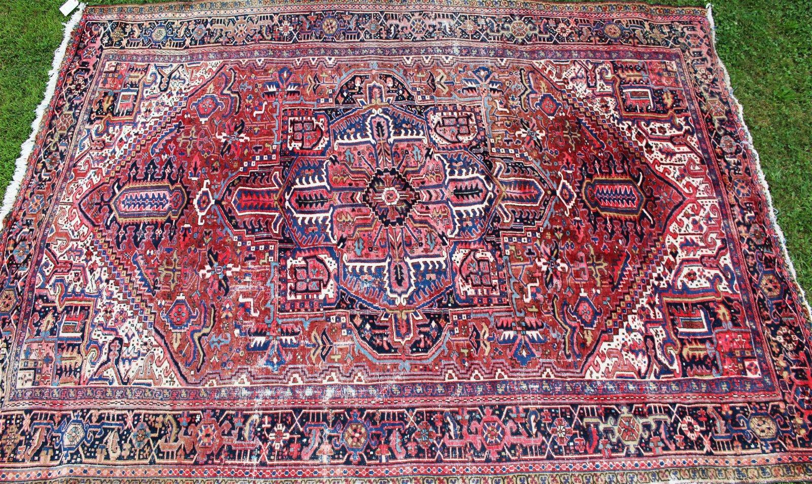early 20th c Heriz main carpet
