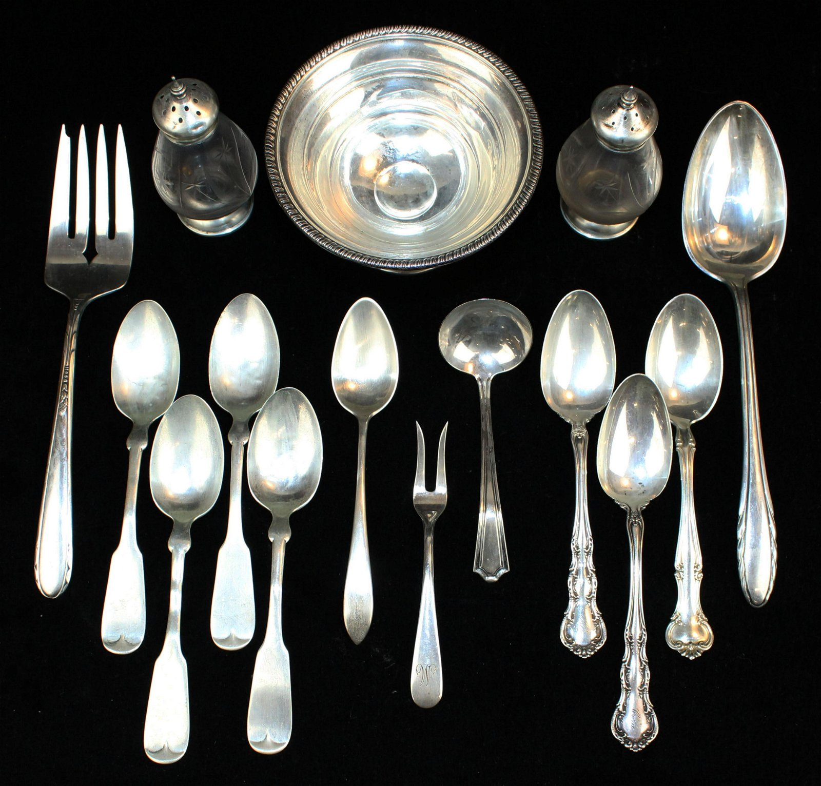 sterling silver hollowware and flatware