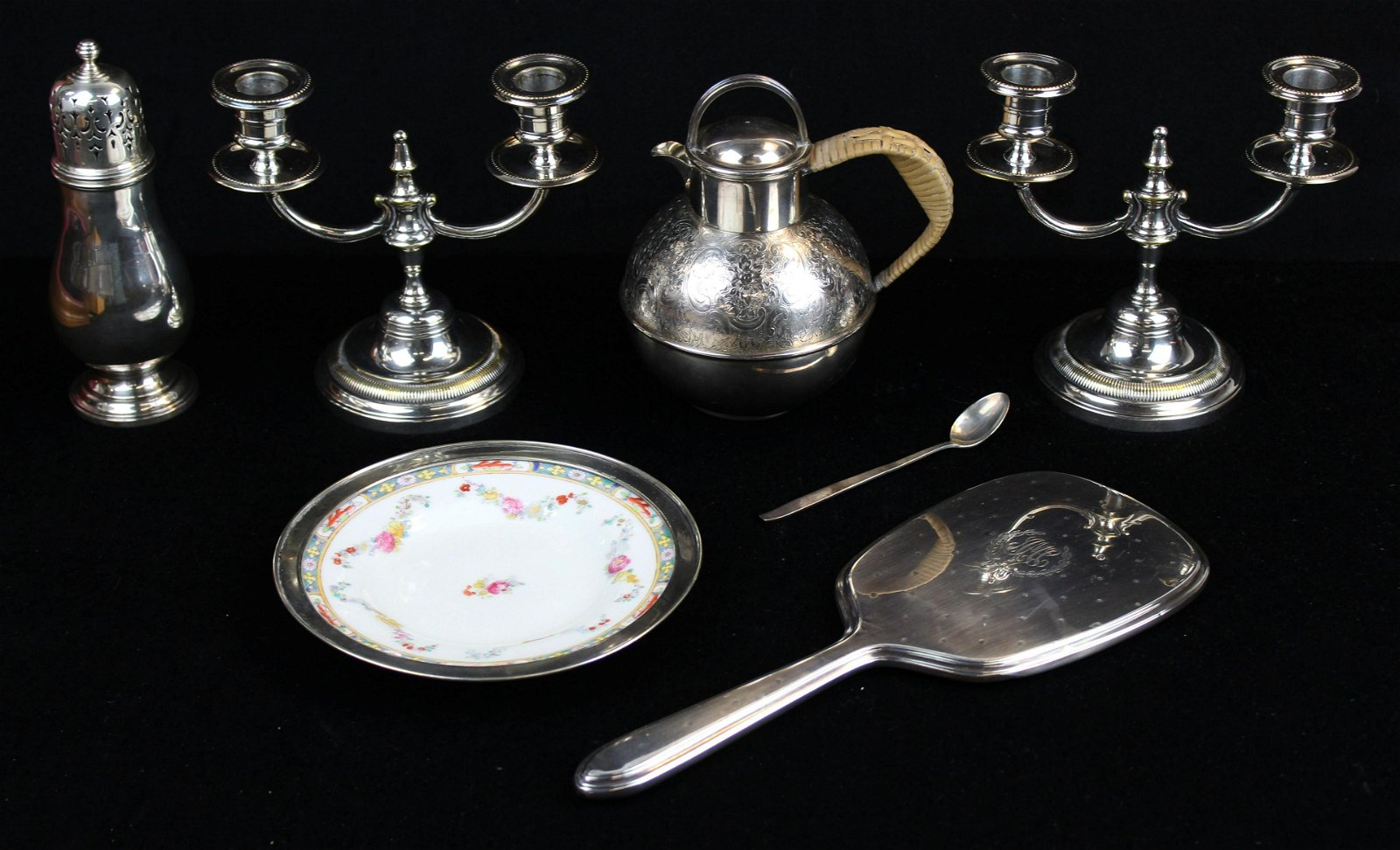 lot of sterling and silver-plated items