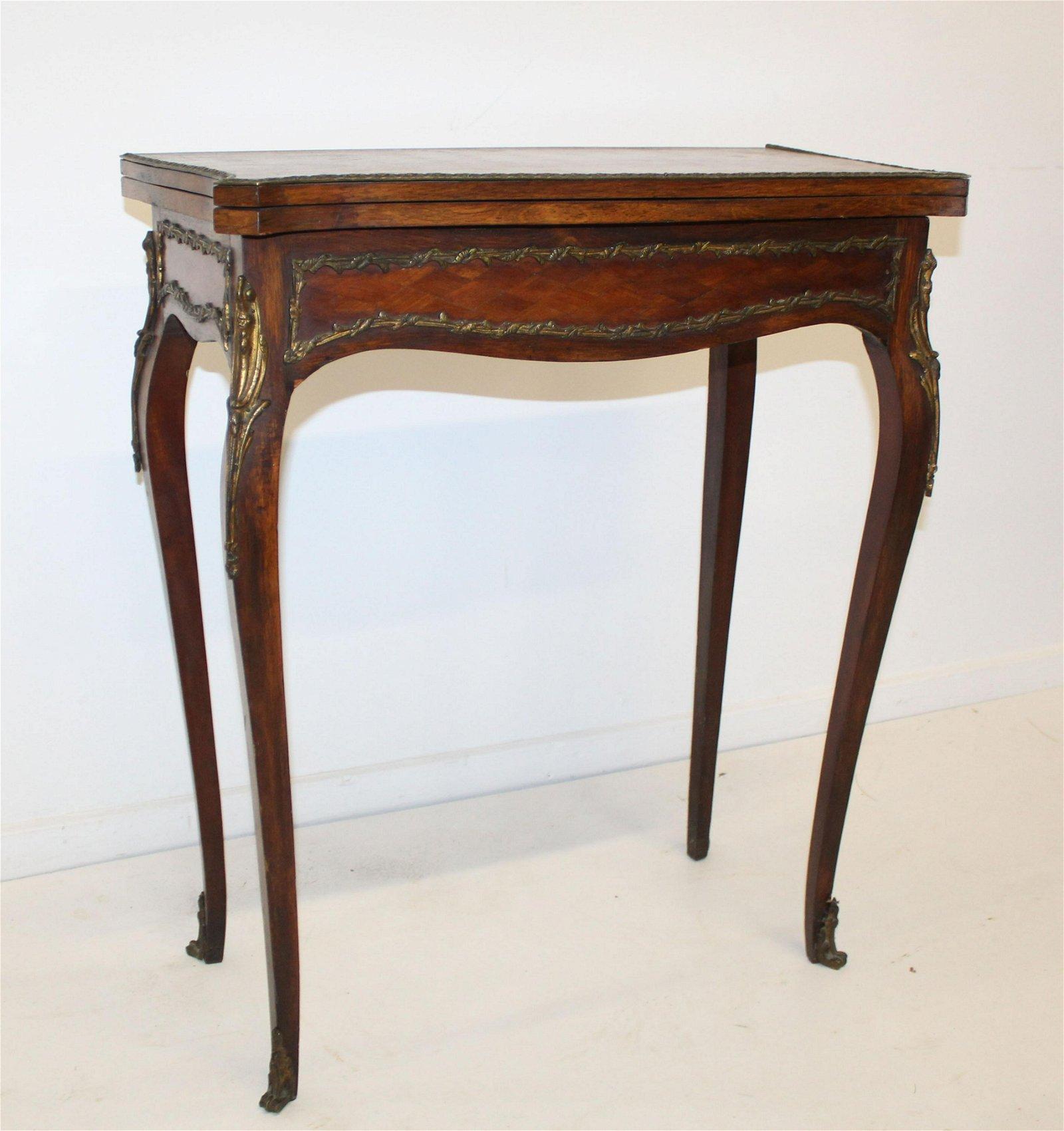 Louis XV ormolu mounted card table