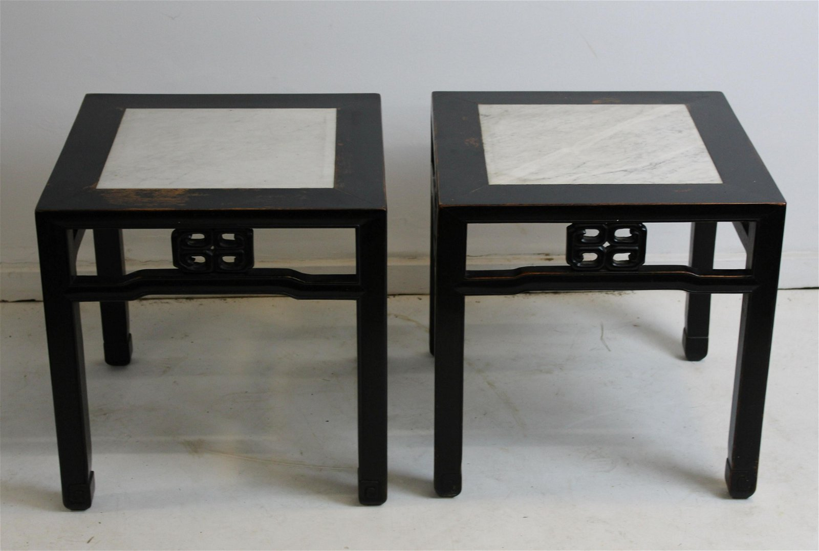 Pair of Chinese carved stands