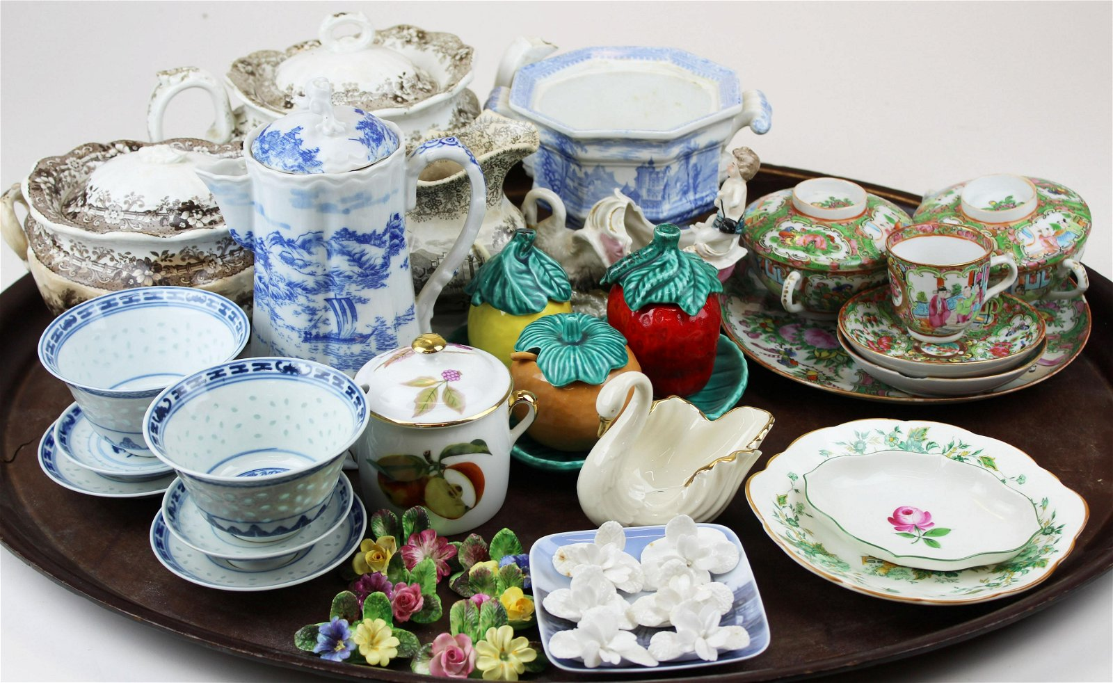 lot of  19th and 20th c. English, Asian porcelain