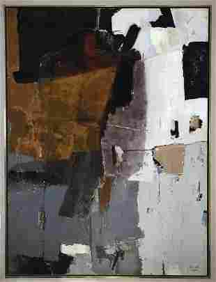 1958 mixed media surrealist by Enrico Donati